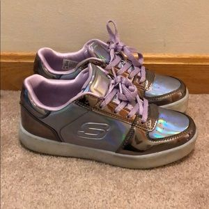 👟Girls Metallic Skechers Size 4